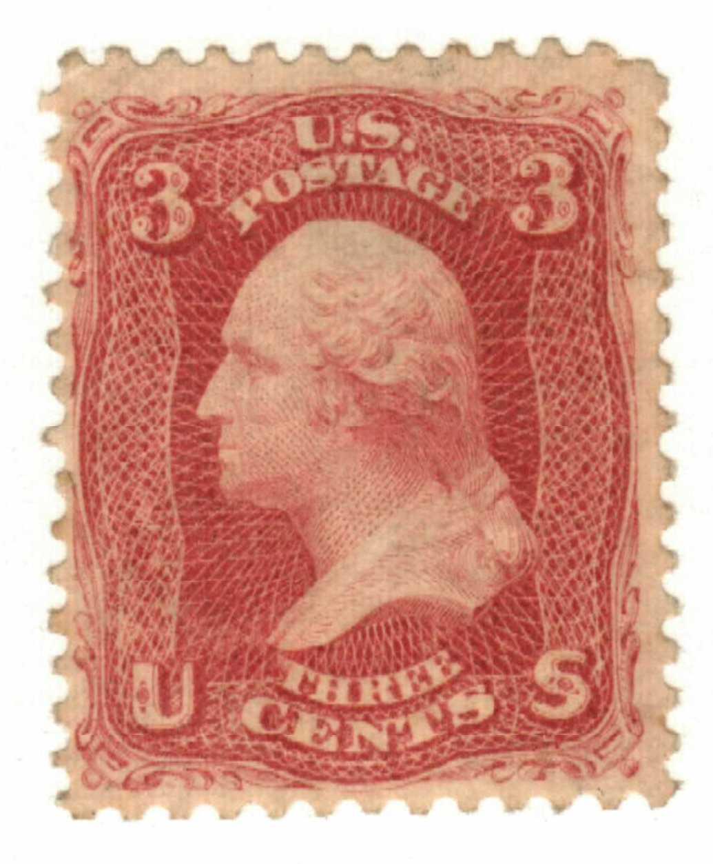 1861-62 3c Washington, rose