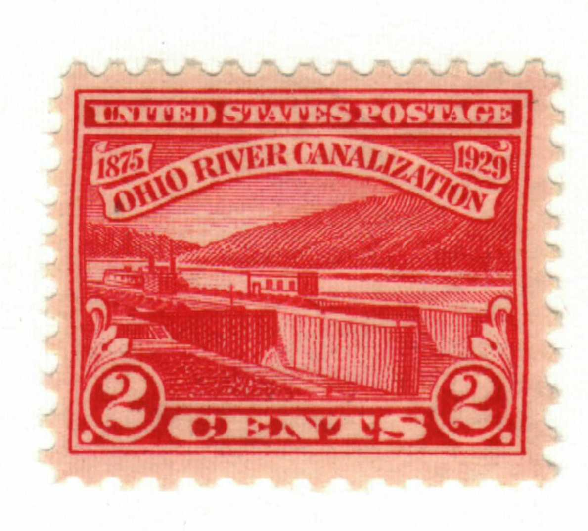 1929 2c Ohio River Canalization