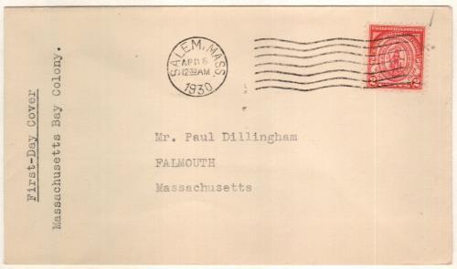 1930 2c Seal of Massachusetts Bay Colony