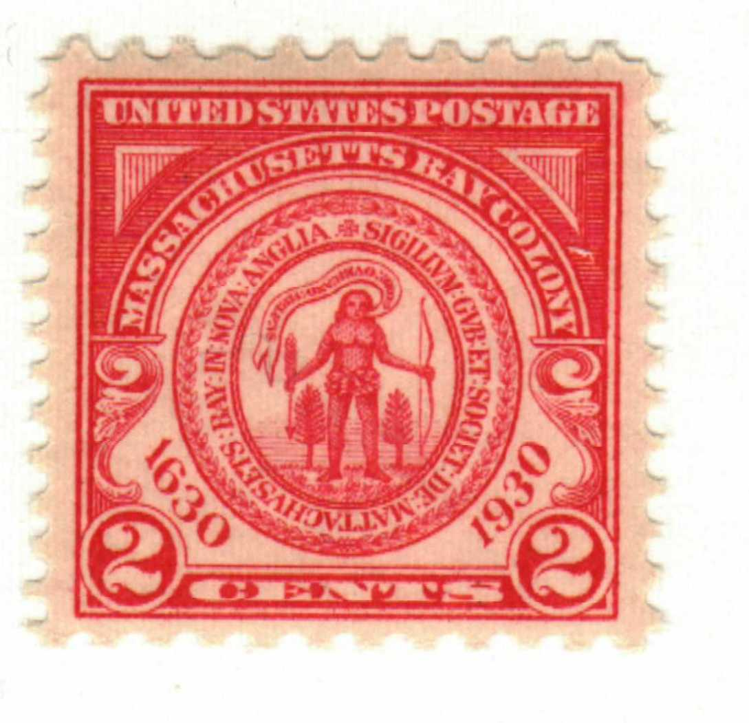 1930 2c Seal of Massachusetts Bay Colony