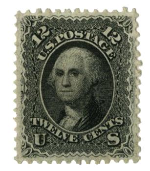 1861-62 12c Washington, black