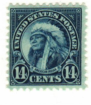 1931 14c American Indian, dark blue