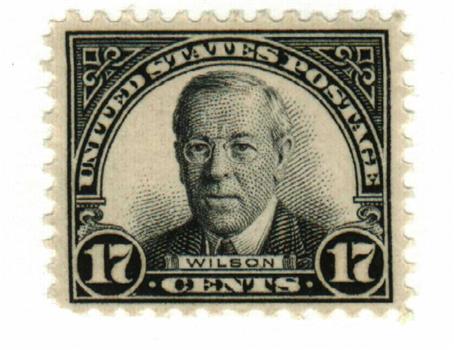 1931 17c Wilson, black