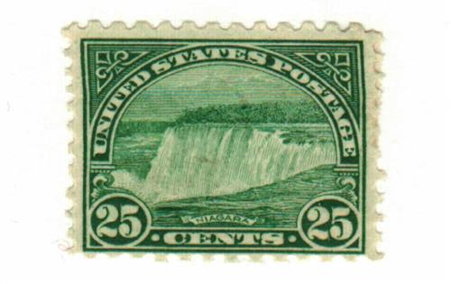 1931 25c Niagara Falls, blue green
