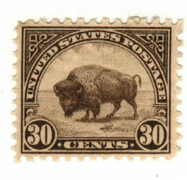 1931 30c Bison, brown