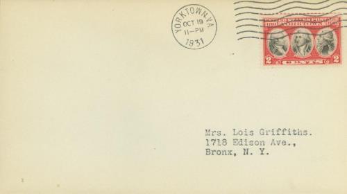 1931 2c Yorktown Issue