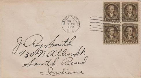 1932 1/2c Washington by Chas. W. Peale