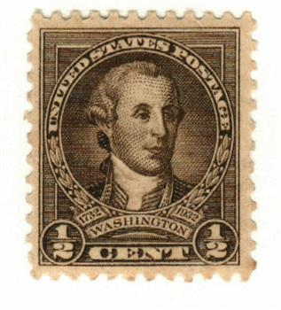 1932 Washington Bicentennial: 1/2c Washington by Charles Willson Peale
