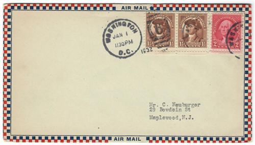1932 2c Washington by Gilbert Stuart