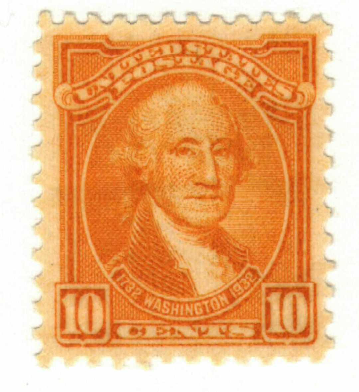 1932 Washington Bicentennial: 10c Washington by Gilbert Stuart