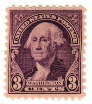 1932 3c Washington, deep violet