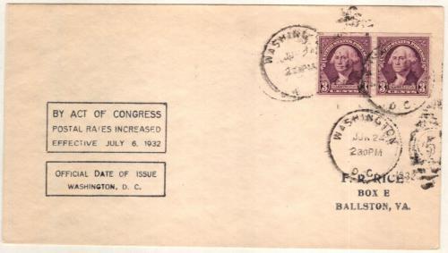 1932 Washington Coil 3c Pf