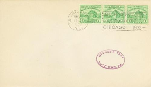 1933 1c Restoration of Fort Dearborn