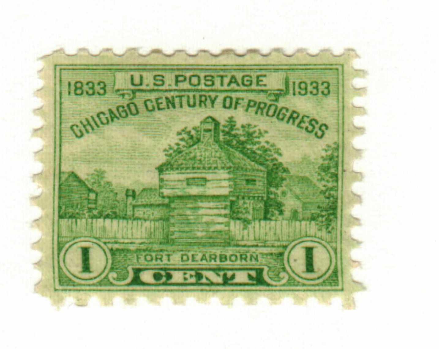 1933 1c Restoration of Fort Dearborn