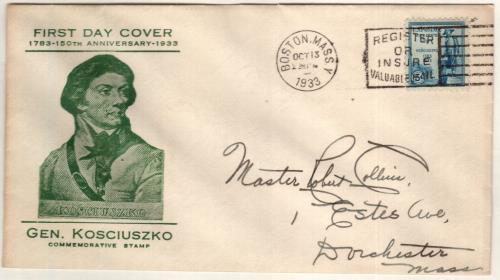 1933 5c General Tadeusz Kosciuszko