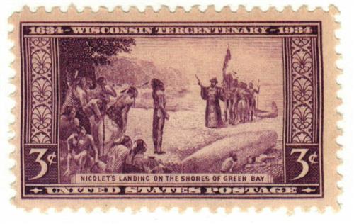 1934 3c Wisconsin Tercentenary