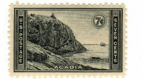 1934 7c National Parks: Acadia, Maine
