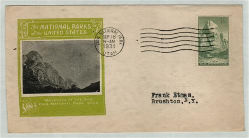 1934 8c National Parks: Zion, Utah