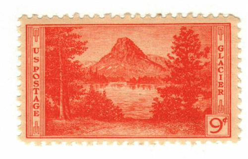 1934 9c National Parks Glacier National Park Montana For Sale At Mystic Stamp Company