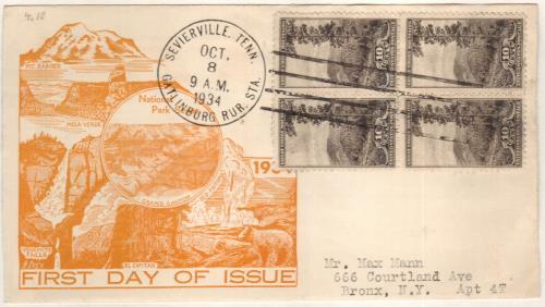 1934 10c Gr. Smoky Mtns., N. Carolina