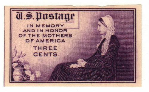 1935 3c Mothers of America, imperf, no gum