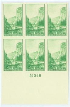 1935 1c National Parks: Yosemite, imperf, no gum