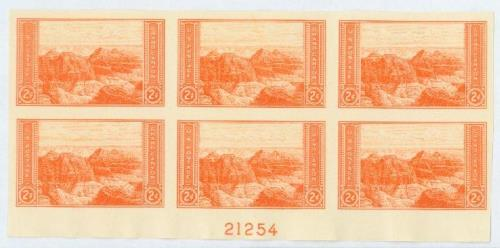 1935 2c National Parks: Grand Canyon, imperf, no gum