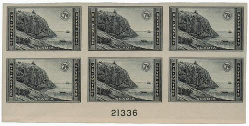 1935 7c National Parks: Acadia, imperf, no gum