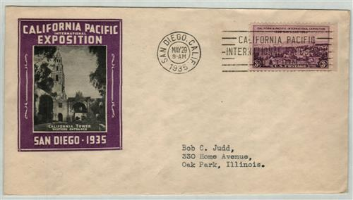 1935 3c California Pacific Exposition