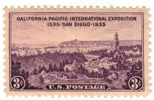 1935 3c California Pacific Exposition