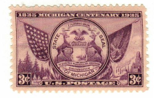 1935 3c Michigan Centenary For Sale At Mystic Stamp Company