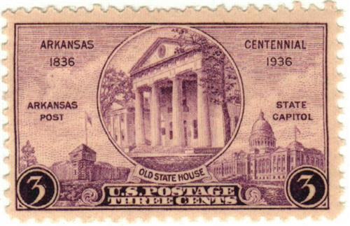 1936 3c Arkansas Centennial