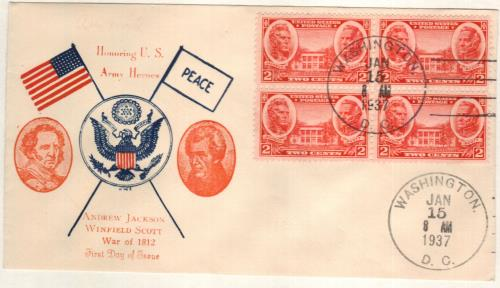 1937 2c Jackson and Scott - Hermitage