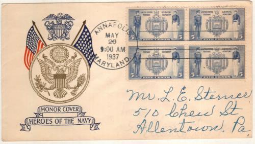 1937 5c Seal of U.S. Naval Academy