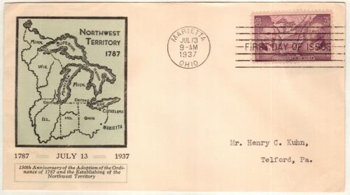 1937 3c Northwest Ordinance