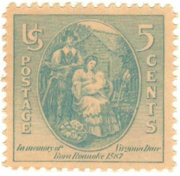 1937 Virginia Dare stamp