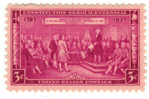 1937 3c Constitution Sesquicentennial