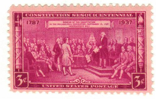 1937 3c Constitution Sesquicentennial For Sale At Mystic Stamp Company