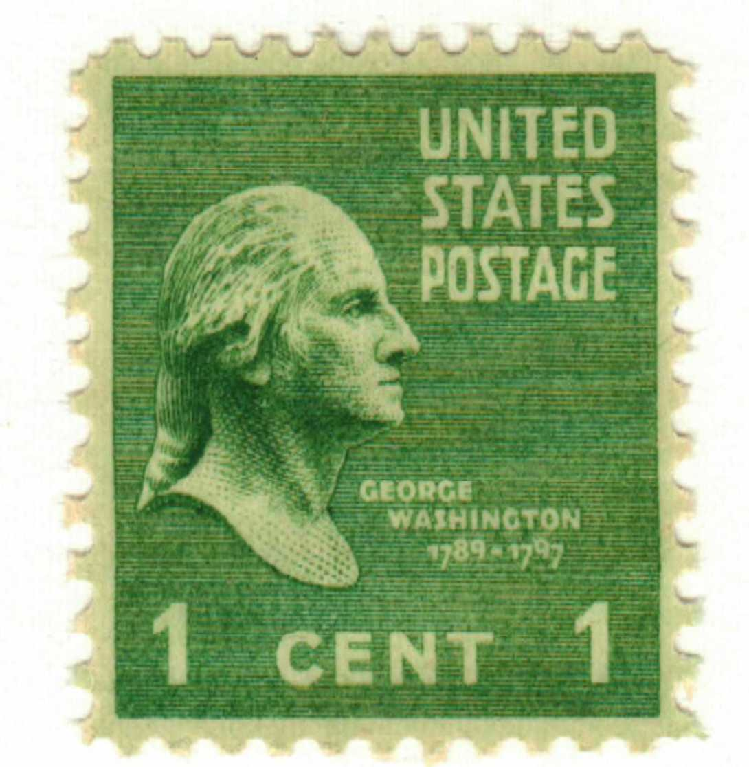 1938 1c George Washington For Sale At Mystic Stamp Company
