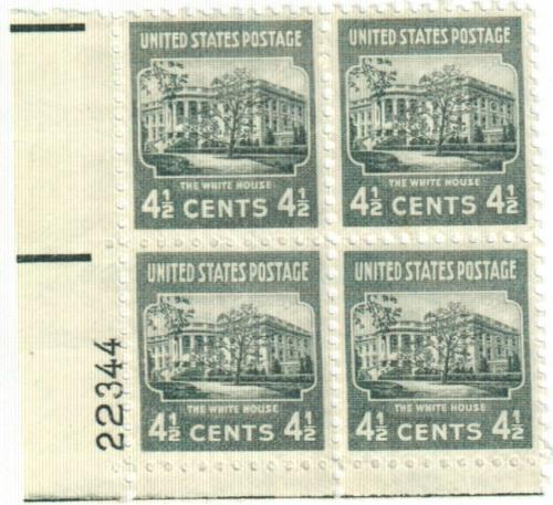1938 4 1/2c White House, dark gray