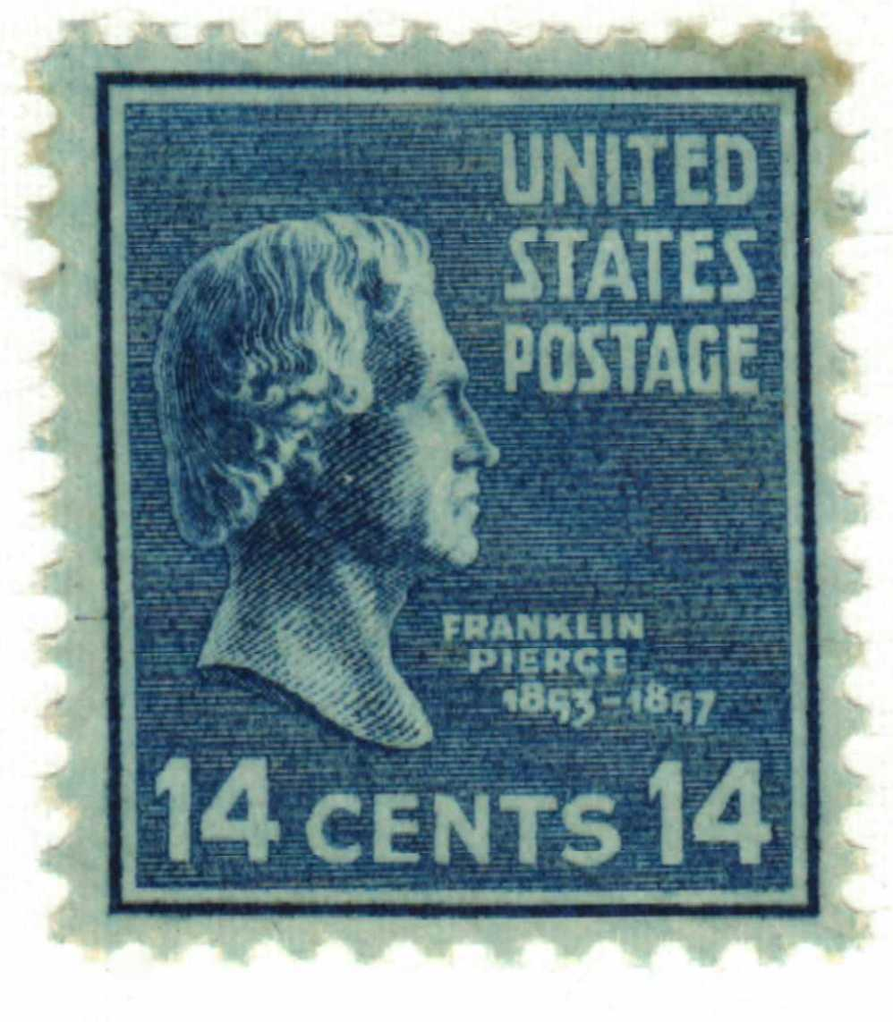 1938 14c Pierce, blue