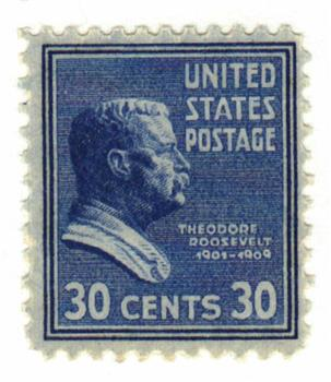 1938 30c Theodore Roosevelt, blue