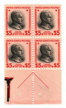 1938 $5 Coolidge