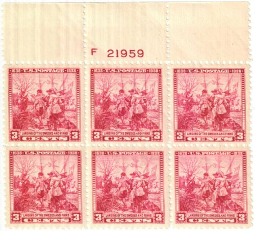 1938 3c Landing of the Swedes and Finns