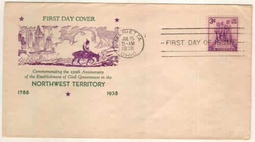 1938 3c Northwest Territory Sesquicentennial