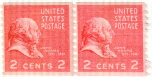 1939 2c John Adams, dark rose