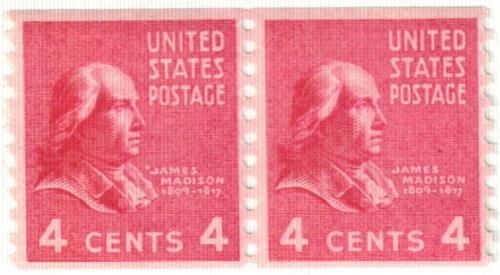1939 4c James Madison, red violet