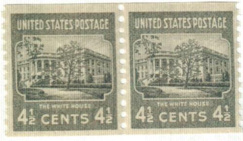 1939 4 1/2c White House, dark gray