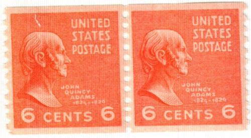 1939 6c John Quincy Adams, red orange