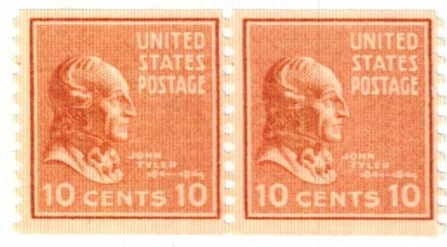 1939 10c John Tyler, brown red